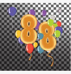 Happy birthday eighty eight year fun celebration vector