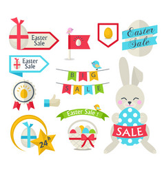 happy easter sale set template vector image