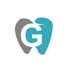 healthy dental care letter g vector image