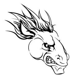 Horse mascot character vector