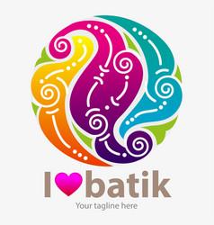 I love batik vector