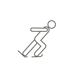 ice skating athlete icon simple element from map vector image