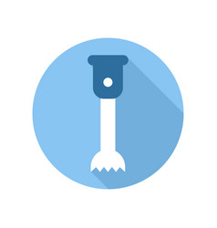 immersion hand blender icon kitchen equipment vector image