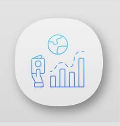 Immigration rate app icon business analysis vector