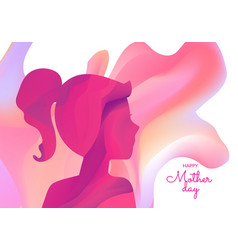 international woman day greeting card vector image
