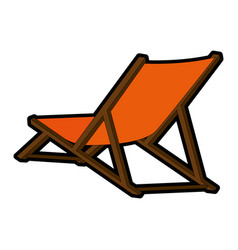 Isolated beach chair vector