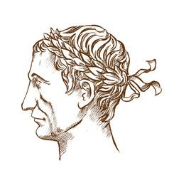 julius caesar roman politician and general vector image