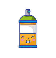 Kawaii cute smile aerosol spray vector