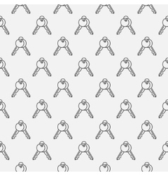 Key seamless pattern vector image