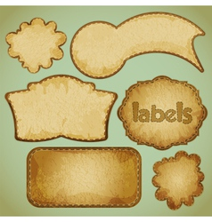 labels retro vector image