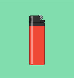 lighter icon in flat style vector image