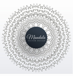 Mandala decoration background art design vector