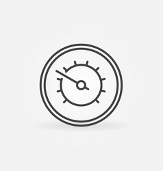 manometr concept icon in thin line style vector image