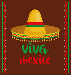 mexican culture traditional hat vector image