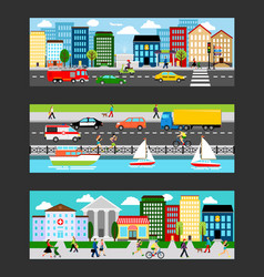 modern cityscape set in industrial megapolis vector image