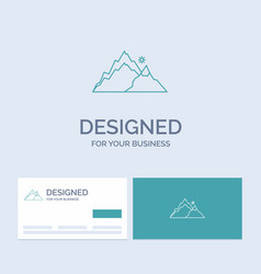 Mountain landscape hill nature tree business logo vector