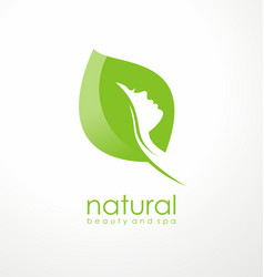 natural beauty logo design idea vector image