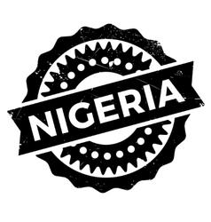 Nigeria stamp rubber grunge vector image