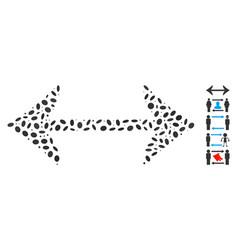 Oval mosaic swap horizontally vector