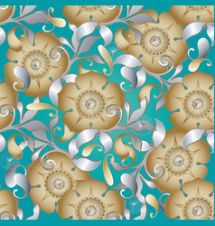 paisley seamless pattern ethnic floral vector image