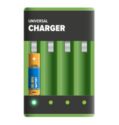 Powerful universal charger isolated vector