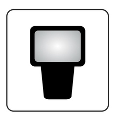 Professional camera flash icon vector