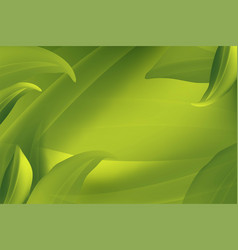 realistic fly green leaves pattern background on vector image