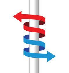 Red and blue arrows icon vector