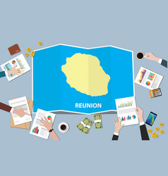Reunion africa economy country growth nation team vector