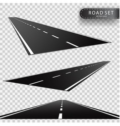Road perspectives of a retreating roadway vector