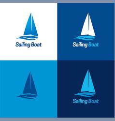 Sailing boat logo and icon vector