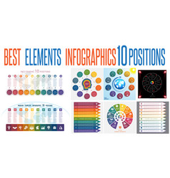 Set 8 universal templates elements infographics vector