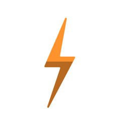 simple lightning flat icon isolated vector image