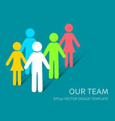 simple our team icon company vector image