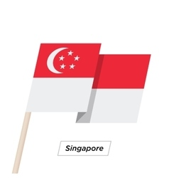 Singapore Ribbon Waving Flag Isolated on White vector image