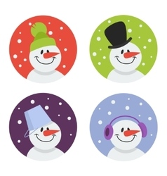 Snowman flat icon vector