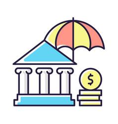 Social insurance rgb color icon vector