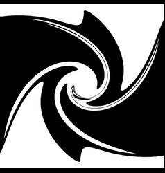 spiral swirling liquid-like shape abstract vector image