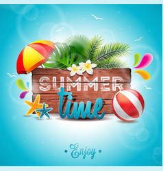 Summer time party holidays invitation flyer poster vector