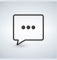 three dots black chat icon vector image