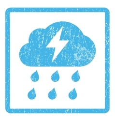 Thunderstorm Icon Rubber Stamp vector image
