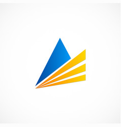 Triangle business finance logo vector
