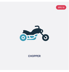 two color chopper icon from transport concept vector image