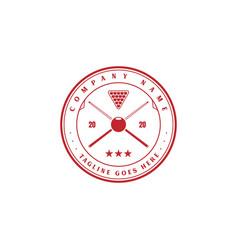 vintage retro badge billiard pool logo design vector image