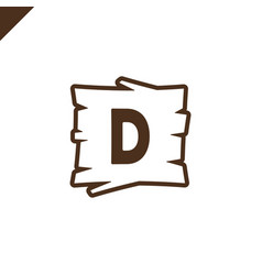 Wooden alphabet or font blocks with letter d vector