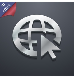 World wide web icon symbol 3D style Trendy modern vector image