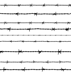 Barbed wire seamless background vector