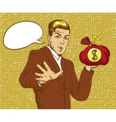 happy businessman holding vector image