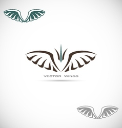 Label with wings vector image vector image