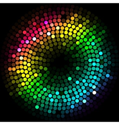 abstract colorfu lights cyrcle vector image
